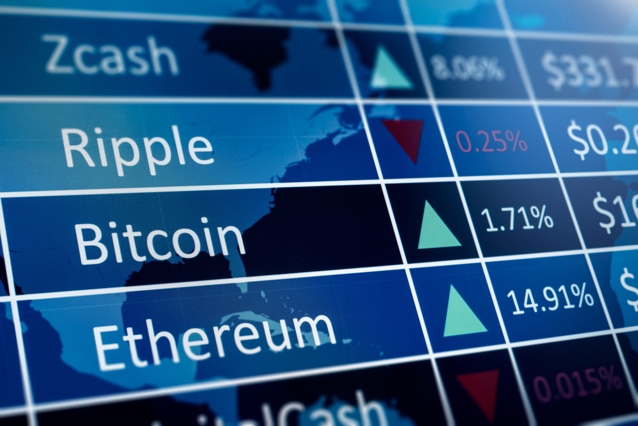 Cruptomonnaies Bitcoin Litecoin Ether